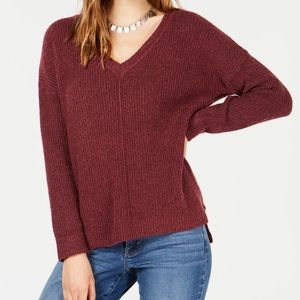 Juniors Mossy Ribbed knit tunic top